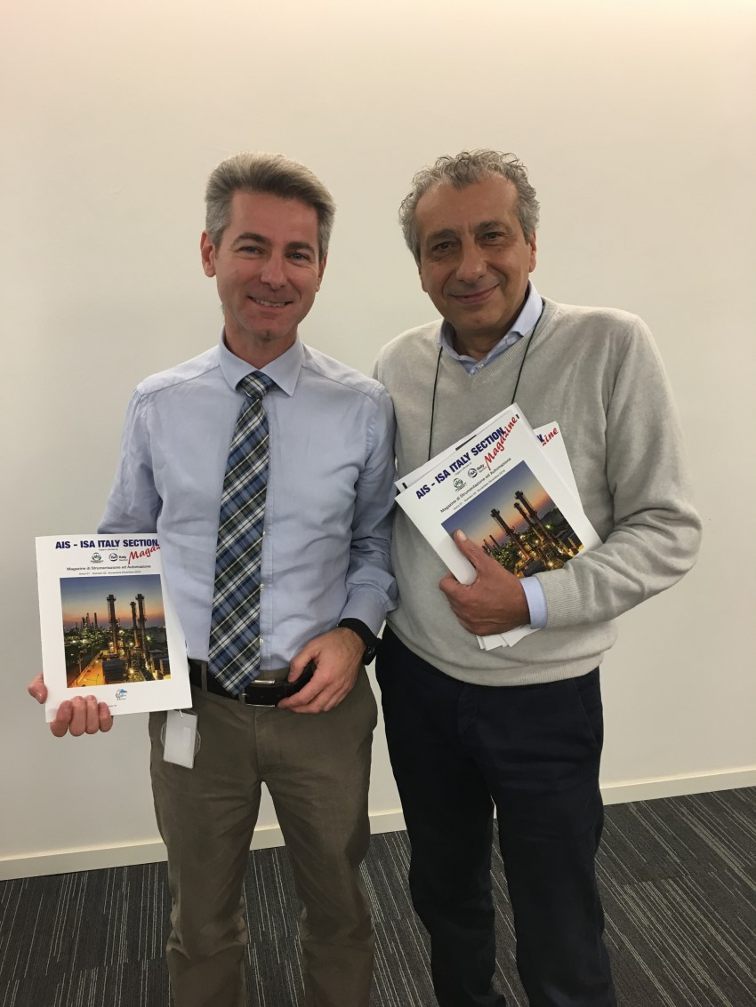 Le nostre più alte cariche: Claudio Montresor, presidente AIS (a destra) e Diego Bertazzo, vicepresidente AIS (a sinistra)
